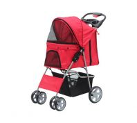 Pawise Pet Stroller Red 68 x 46 x 100cm