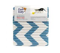 Fresh Kitty Foam Litter Mat Blue Chevron