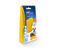Pet & Me Silicone Brush Medium Large Short Dog Hair Yellow