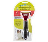Furminator Long Hair Small Dog Deshedding Brush Metallic