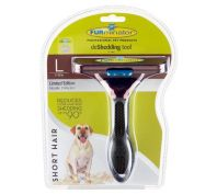 Furminator Short Hair Large Dog Deshedding Brush Metallic