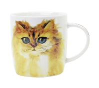 Splosh Art of Cats Yellow Cat Ceramic Mug