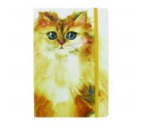 Splosh Art of Cats Yellow Cat Journal