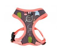 Puppia Catspia Cat Harness Indian Pink Medium