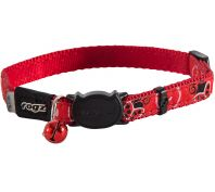Rogz Fancycat 11mm Safeloc Collar Ladybirds