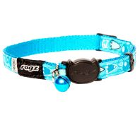 Rogz Fancycat 11mm Safeloc Collar Bubble Fish