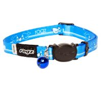 Rogz Kiddycat 11mm Safeloc Collar Royal Birds