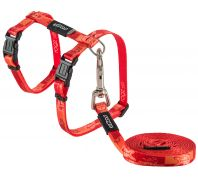 Rogz Kiddycat 11mm Cat Harness & Lead Set Tango Fish