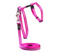 Rogz Alleycat 8mm Kitten Harness & Lead Set Pink