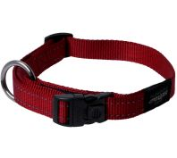Rogz Utility Fanbelt Large Dog Collar Red