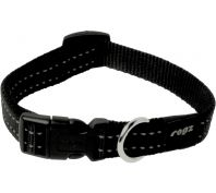 Rogz Utility Snake Medium Dog Collar Black