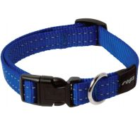 Rogz Utility Snake Medium Dog Collar Black Blue