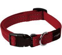 Rogz Utility Snake Medium Dog Collar Black Red