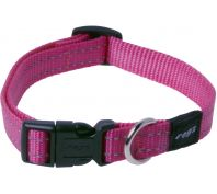 Rogz Utility Snake Medium Dog Collar Black Pink