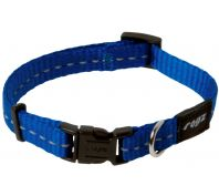 Rogz Utility Nitelife Small Dog Collar Blue