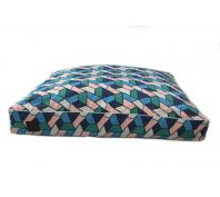 T & S Interior Floor Cushion Coral Waters Large