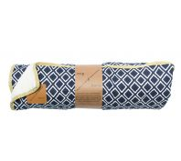 Mog & Bone Designer Fleece Blanket Navy Ikat