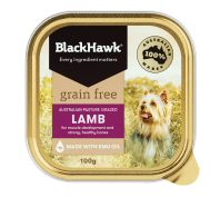 Black Hawk Grain Free 12x100g Lamb Dog Food