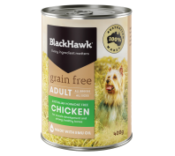 Black Hawk Dog Grain Free 12x400g Chicken Dog Food