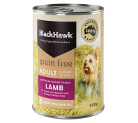 Black Hawk Dog Grain Free 12x400g Lamb Dog Food