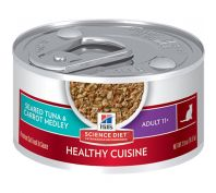 Hills Science Diet Cat Adult 11+ Healthy Cuisine Tuna & Carrot Medley 79G x 24