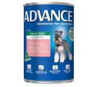 Advance All Breed Adult Dog 12x410g Chicken & Salmon