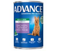 Advance All Breed Adult Dog 12x410g Turkey & Rice