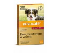Advocate Flea, Heartworm and Worm Treatment for Dogs 10-25kg