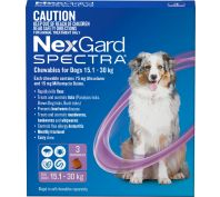 Nexgard Spectra Purple For Large Dogs 15.1-30kg