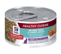 Hill's Science Diet Adult 11+ Healthy Cuisine Tuna & Carrot Medley Canned Cat Food 79g x 24
