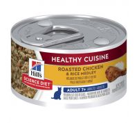 Hill's Science Diet Adult 7+ Healthy Cuisine Chicken & Rice Medley Canned Cat Food 79g x 24