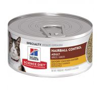 Hill's Science Diet Adult Hairball Control Savory Chicken Entrée Canned Cat Food 156g x 24