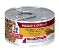 Hill's Science Diet Adult Healthy Cuisine Chicken & Rice Medley Canned Cat Food 79g x 24