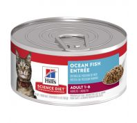 Hill's Science Diet Adult Ocean Fish Entrée Canned Cat Food 156g x 24