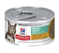 Hill's Science Diet Adult Perfect Weight Canned Cat Food 82g x 24