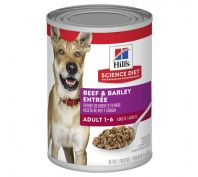 Hills Science Diet Adult Beef & Barley Entrée Canned Dog Food 370g x 12