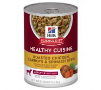 Hills Science Diet Adult Healthy Cuisine Chicken & Carrot Stew Canned Dog Food 354g x 12
