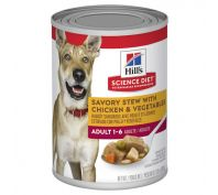 Hills Science Diet Adult Savory Stew Chicken & Vegetables Canned Dog Food 363g x 12