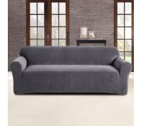 Sure Fit Stretch Pearson 3 Seater Sofa Cover Slate