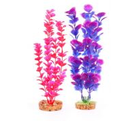 Kazoo Aquarium Plant Medium Leaf Pink/Purple