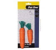 Pet One Veggie Rope For Small Animals Carrot Mixed Pack