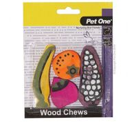 Pet One Wood Chews For Small Animals Mixed 4 Pack