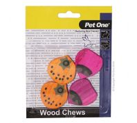 Pet One Wood Chews For Small Animals Small 4 Pack