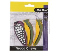 Pet One Wood Chews For Small Animals Medium 3 Pack