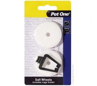 Pet One Small Animal Salt Lick With Holder Twin Pack