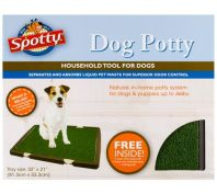 Spotty Indoor Dog Toilet Brown