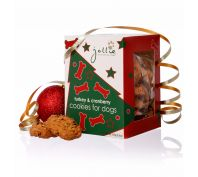 Jollie Turkey & Cranberry Christmas Cookies 250g Dog Treats